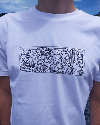 Camiseta Gernika blanca